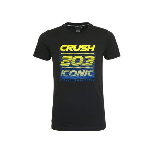 Crush Denim T-shirt Toronto met tekst zwart