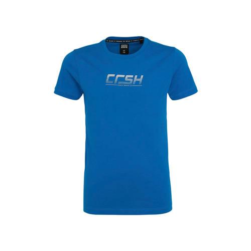 Crush Denim T-shirt Tylor met logo blauw