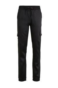 Crush Denim regular fit cargo broek Bridget zwart, Zwart