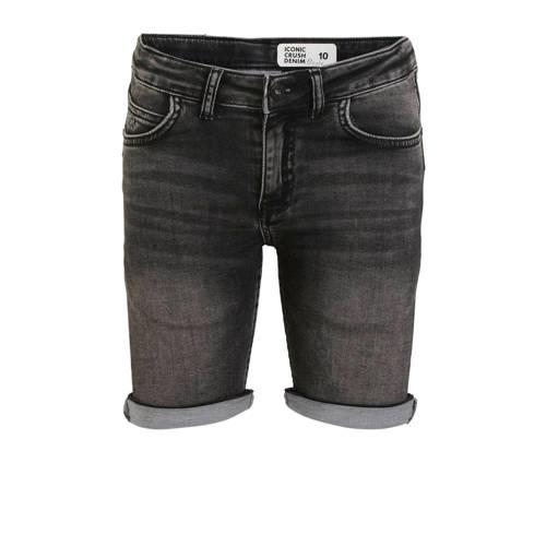 Crush Denim regular fit jeans bermuda Deale zwart