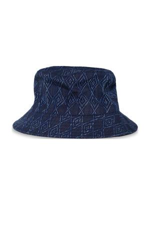 hoed met structuur donkerblauw
