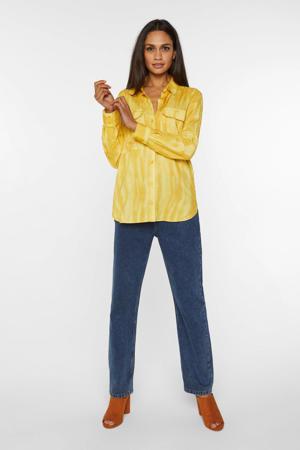 tie-dye blouse geel