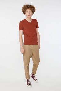 WE Fashion Fundamental T-shirt met biologisch katoen arabian spice, Arabian Spice