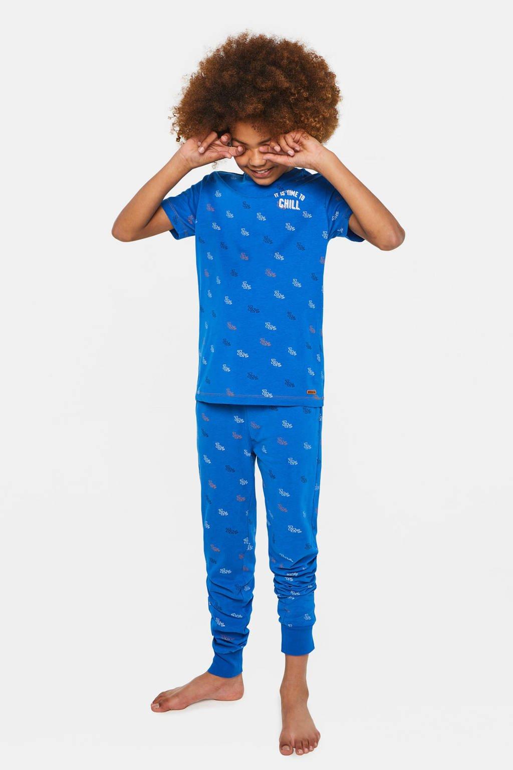 WE Fashion   pyjamaset blauw, Blauw