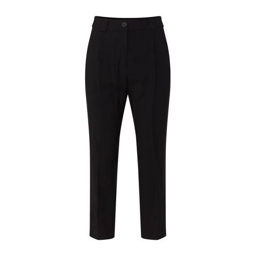 WE Fashion high waist regular fit pantalon met kri