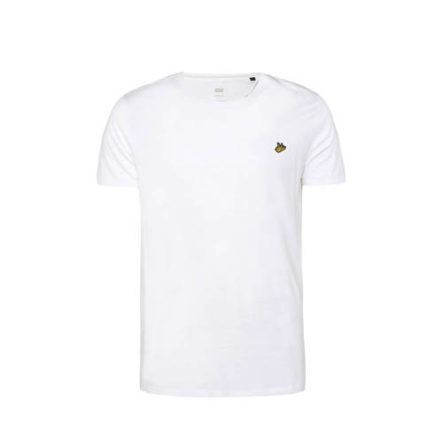 WE Fashion T-shirt van biologisch katoen white uni