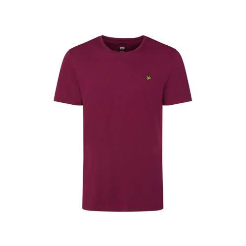 WE Fashion T-shirt van biologisch katoen purple po