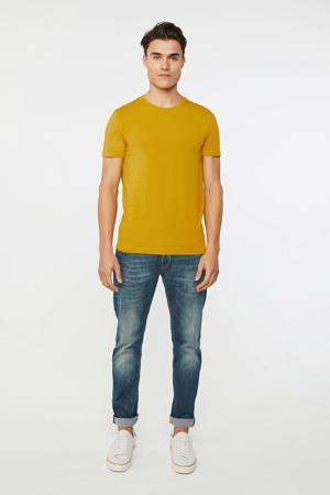 T-shirt met biologisch katoen honey mustard