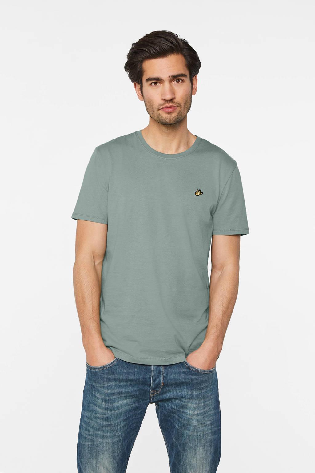 WE Fashion T-shirt van biologisch katoen moss, Moss