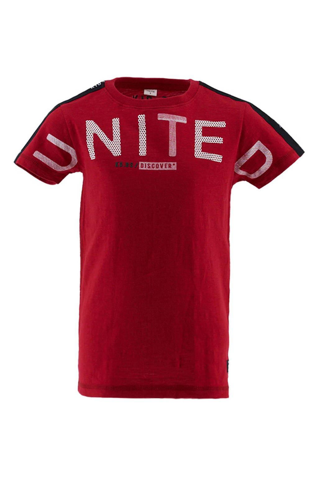 KIDDO T-shirt met contrastbies rood, Rood