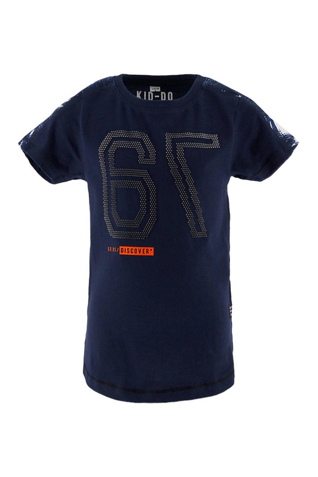 KIDDO T-shirt met printopdruk marine, Marine