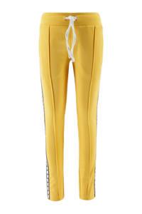 KIDDO joggingbroek met zijstreep geel/zwart/wit, Geel/zwart/wit