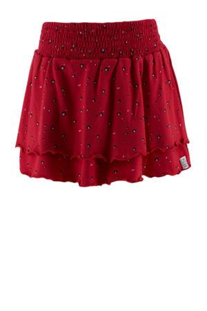rok met all over print rood/zwart/wit