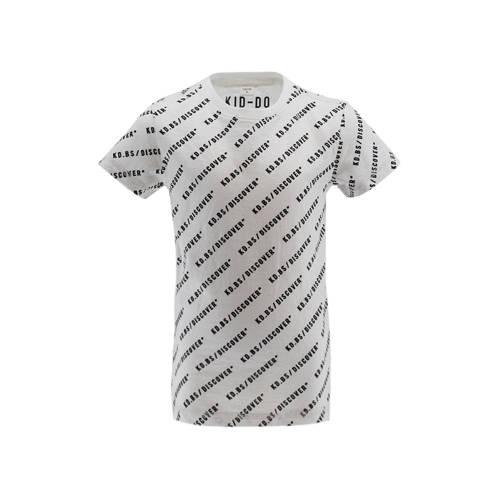 KIDDO T-shirt met all over print wit