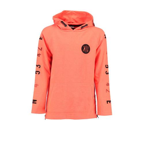 KIDDO hoodie met printopdruk oranje