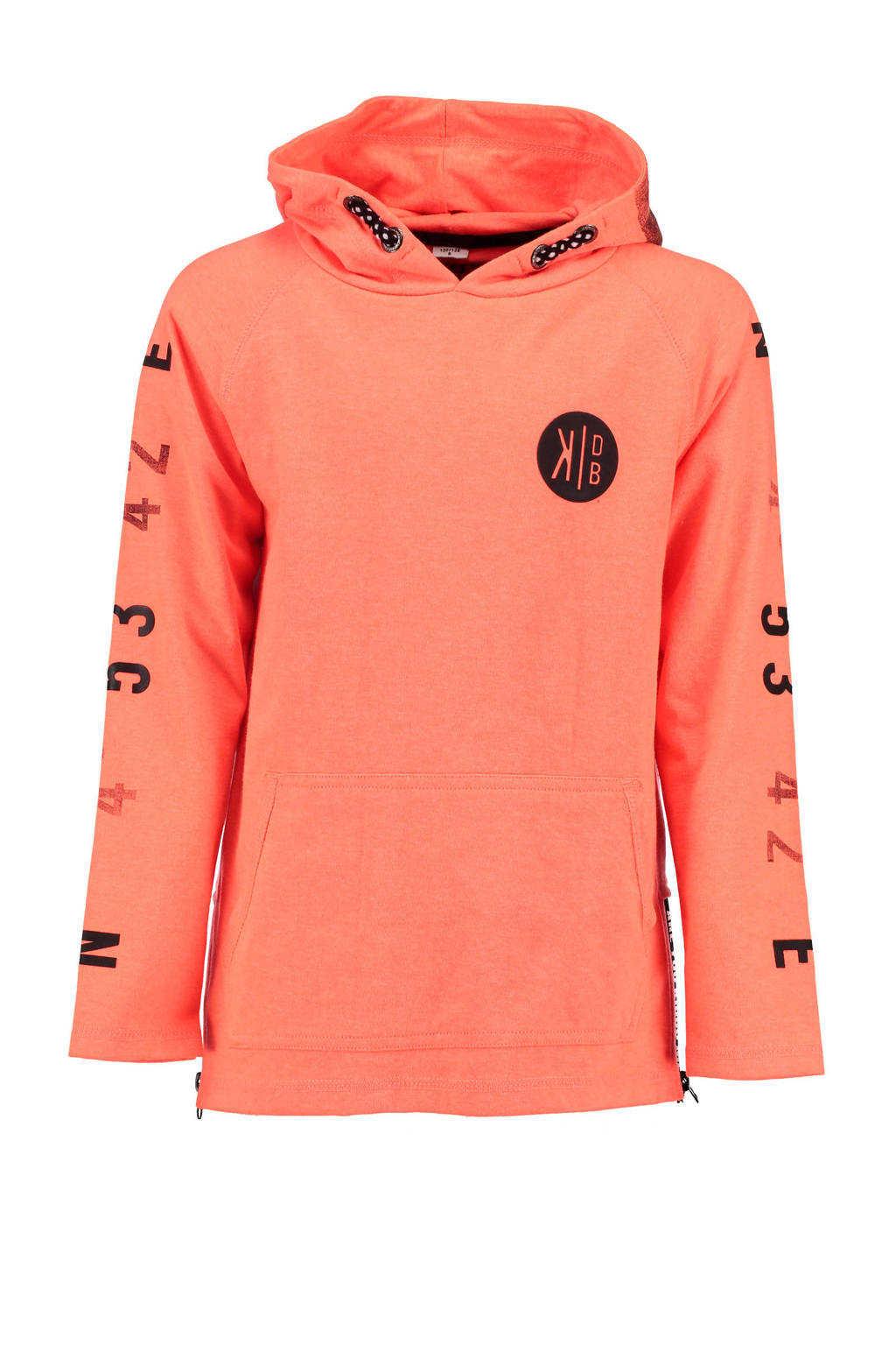 KIDDO hoodie met printopdruk oranje, Oranje
