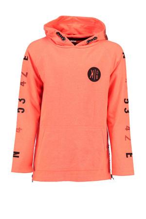 hoodie met printopdruk oranje