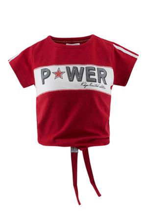 T-shirt met tekst rood/wit