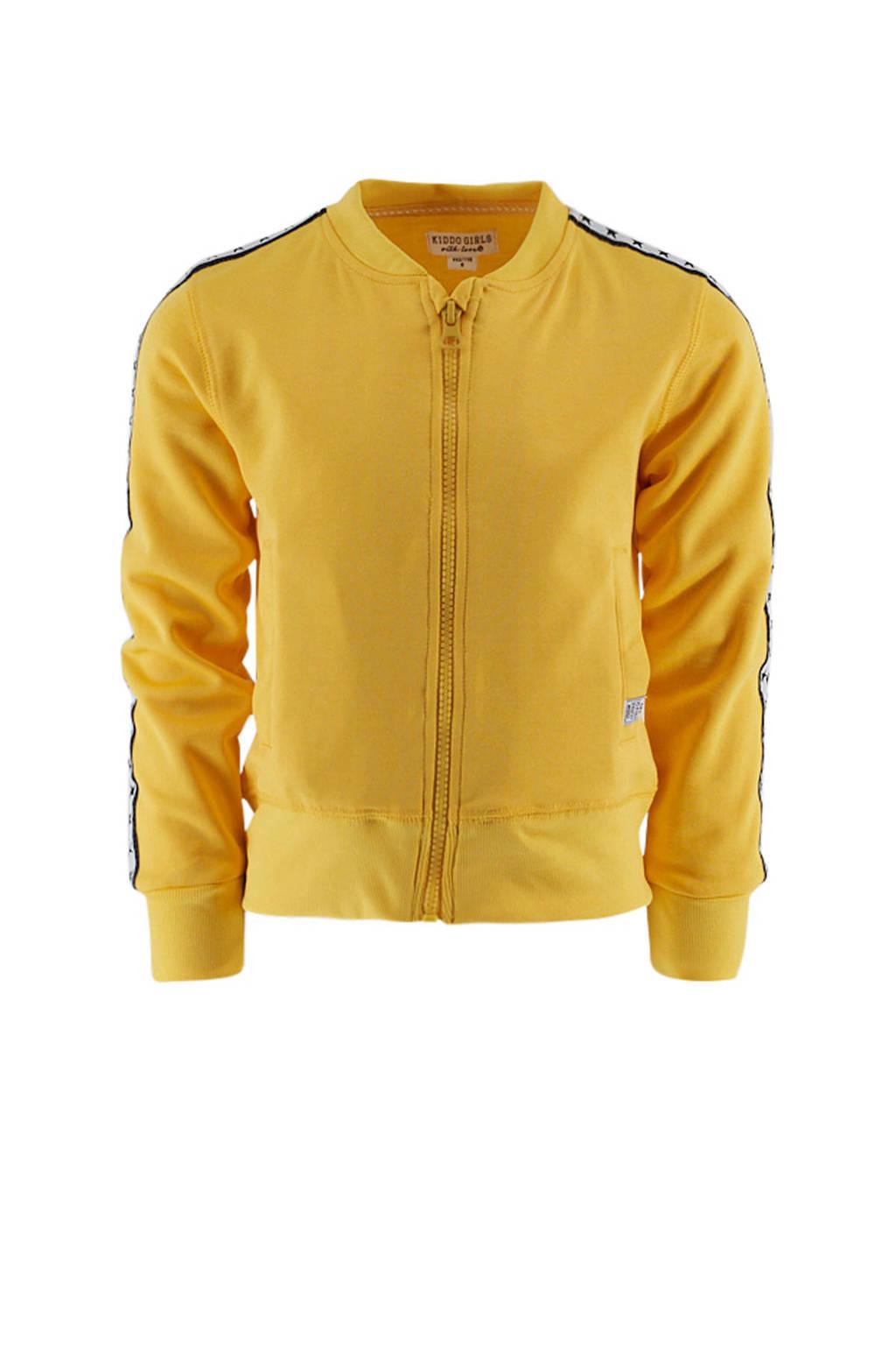 KIDDO vest met tekst geel/zwart/wit, Geel/zwart/wit