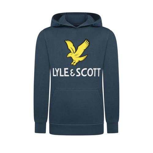Lyle & Scott hoodie met logo donkerblauw