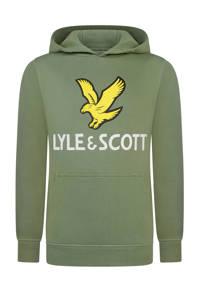 Lyle & Scott hoodie met logo groen, Groen