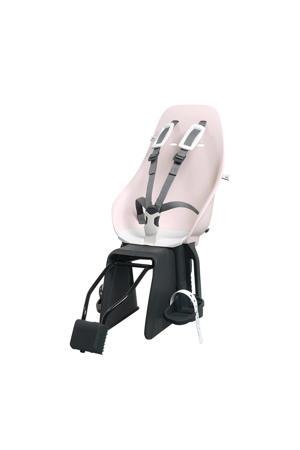 fietsstoeltje + frame montagebeugel roze/wit