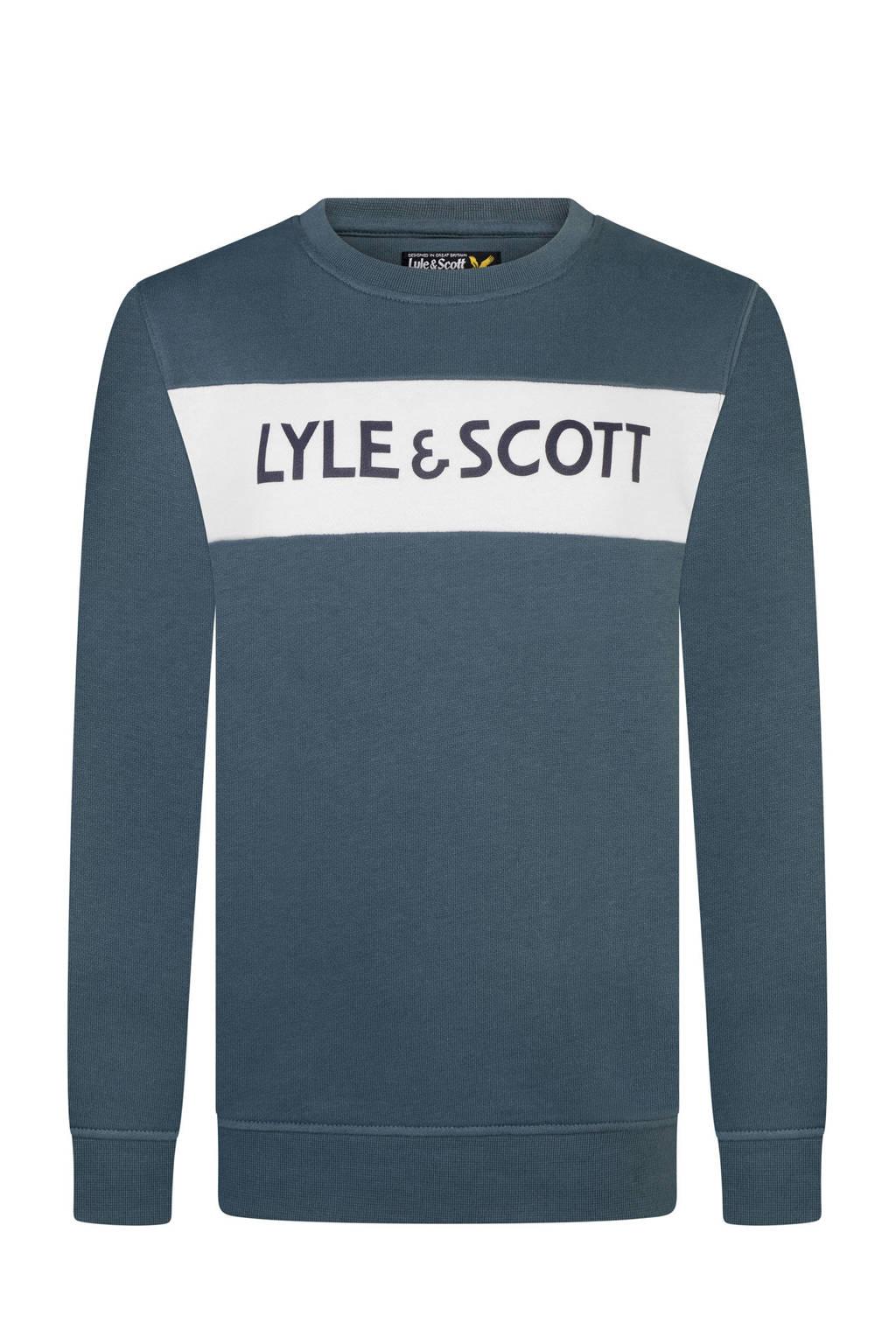 Lyle & Scott sweater donkerblauw, Donkerblauw