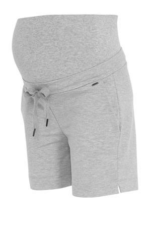 low waist skinny zwangerschapssweatshort grijs