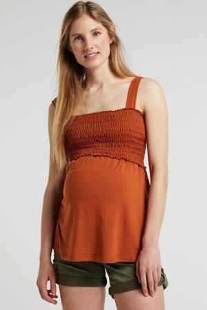 zwangerschaps- en voedingstop roestbruin