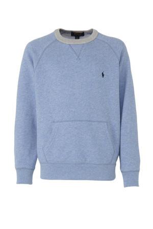 gemêleerde sweater lichtblauw/grijs/donkerblauw