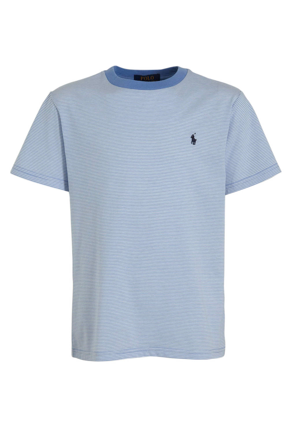 POLO Ralph Lauren gestreept T-shirt lichtblauw/wit, Lichtblauw/wit