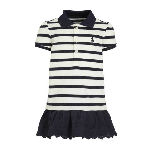 POLO Ralph Lauren gestreepte T-shirtjurk donkerbla