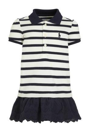 gestreepte T-shirtjurk donkerblauw/wit