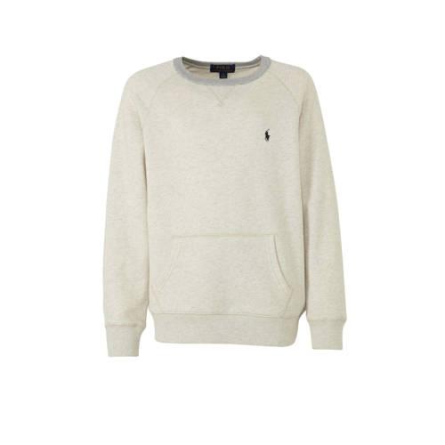 POLO Ralph Lauren gem??leerde sweater ecru/grijs/d