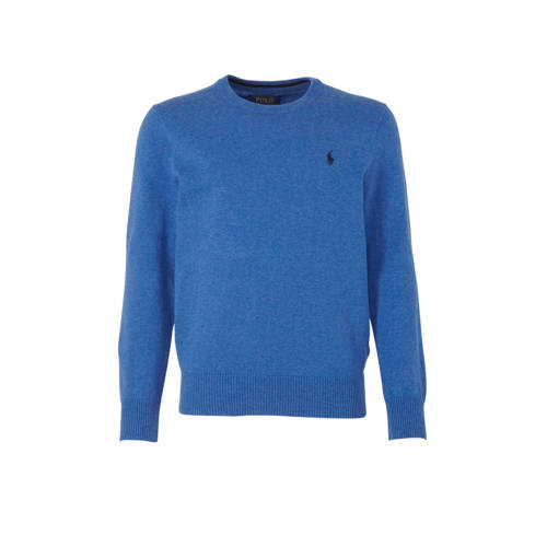 POLO Ralph Lauren trui met borduursels blauw/donke