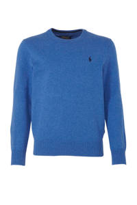 POLO Ralph Lauren trui met borduursels blauw/donkerblauw, Blauw/donkerblauw