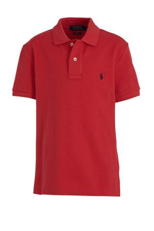 polo met logoborduursel rood
