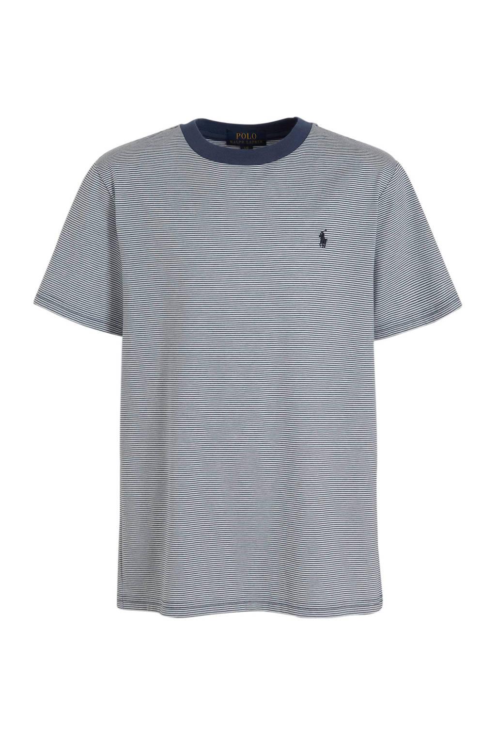 POLO Ralph Lauren gestreept T-shirt donkerblauw/wit, Donkerblauw/wit