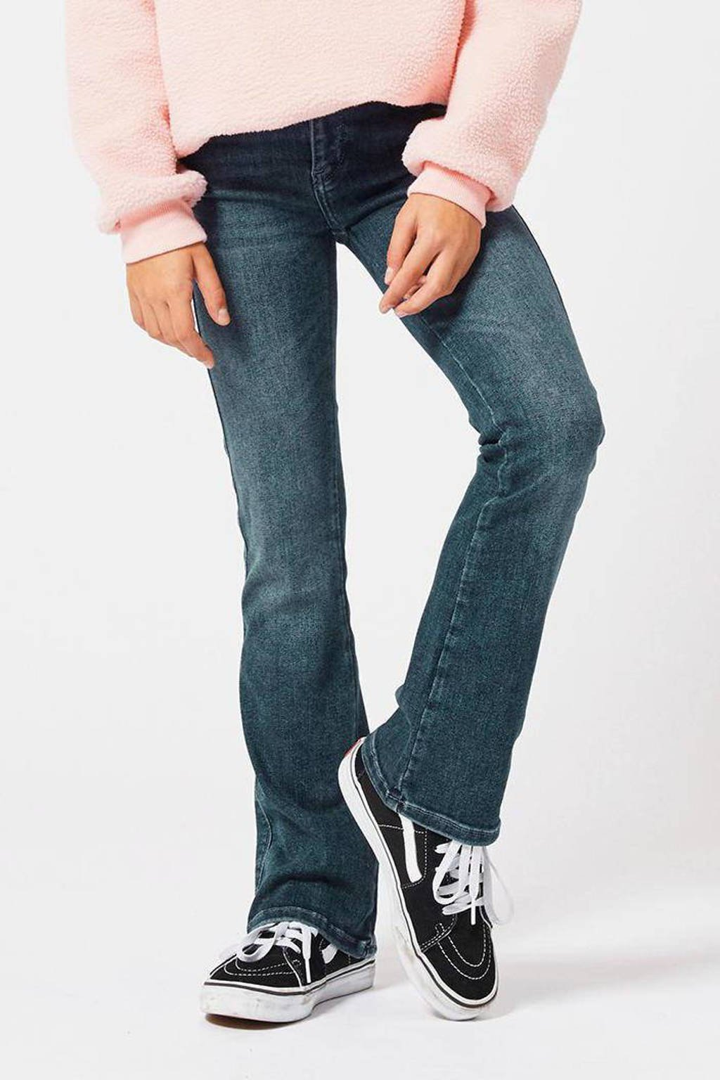 America Today Junior flared jeans Emily donkerblauw, Donkerblauw