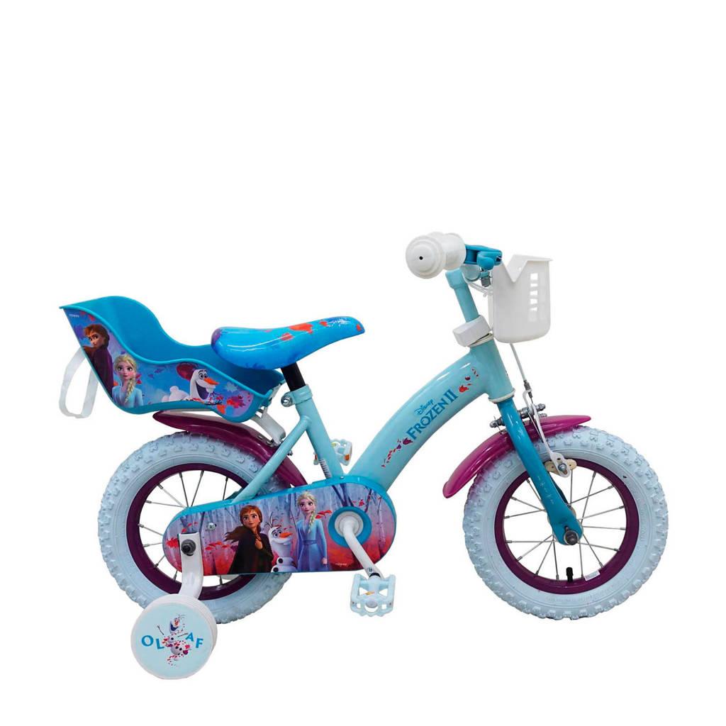 Disney Frozen 2  12 inch kinderfiets, Blauw
