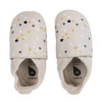 Bobux Soft Soles leren babyslofjes beige, Beige/multi
