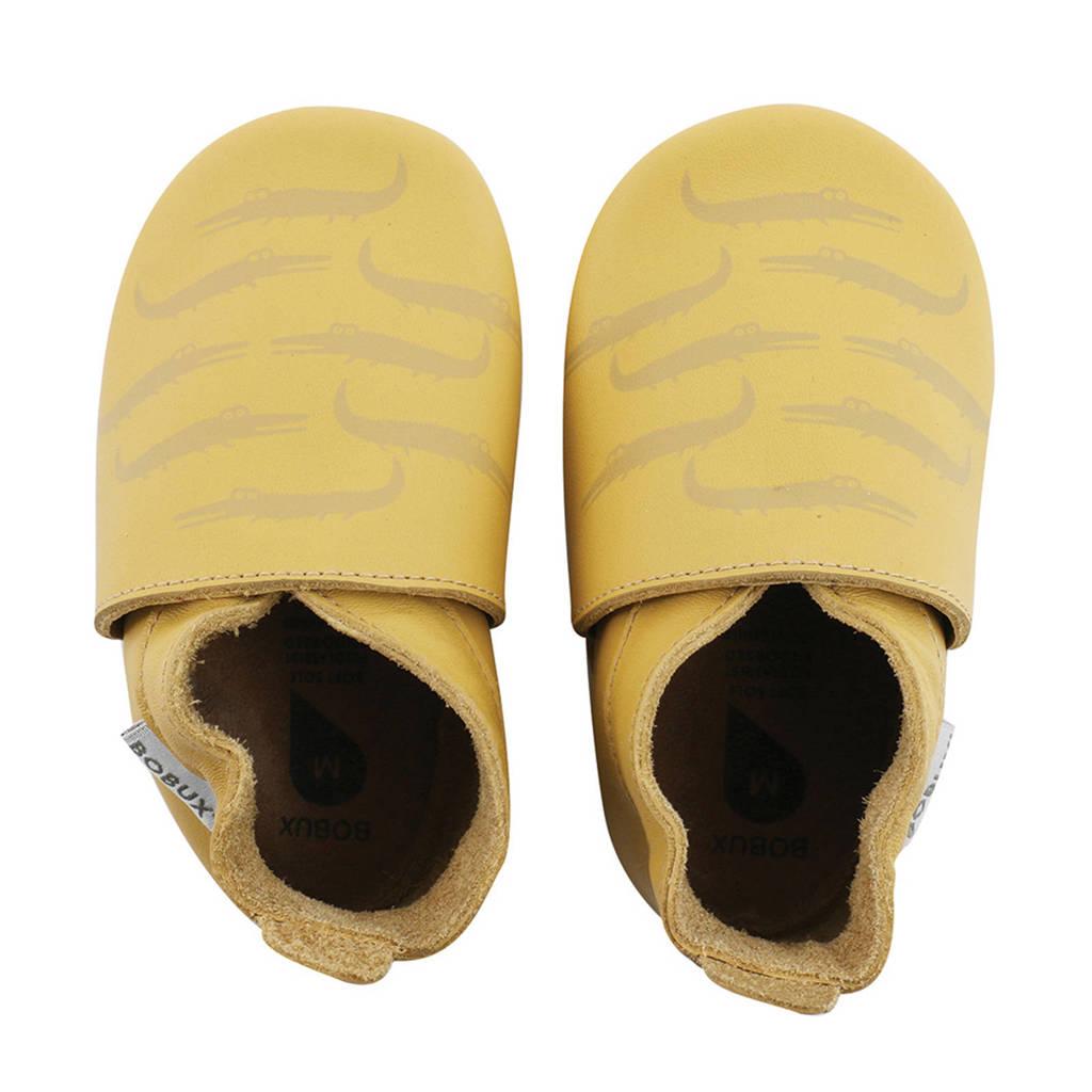 Bobux Soft Soles leren babyslofjes geel, Geel