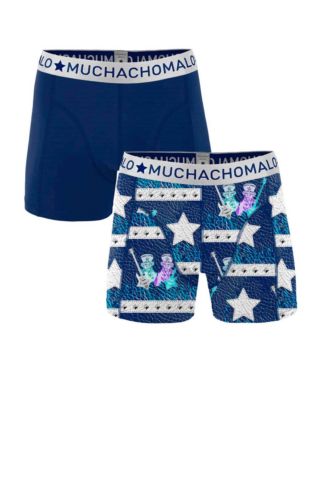 Muchachomalo   boxershort Funkadelic - set van 2, Blauw/wit