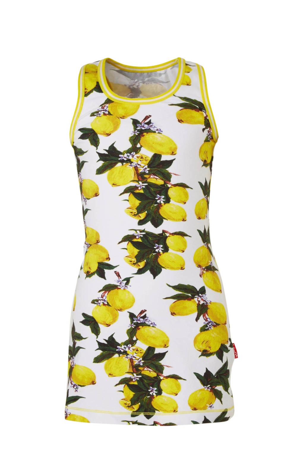Claesen's jersey jurk met all over print lemon