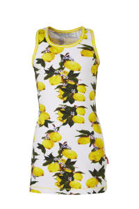Claesen's nachthemd met all over print wit/geel/groen, Wit/geel/groen