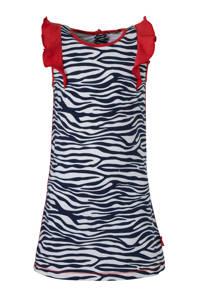 Claesen's jersey jurk met zebraprint en contrastbies zebra, Zebra