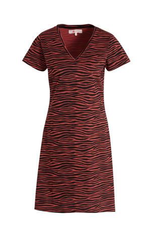 nachthemd met zebraprint rood/zwart