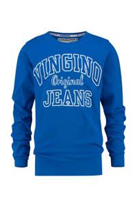 Vingino longsleeve Jeat met logo blauw, Blauw