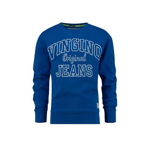 Vingino sweater Nate met logo blauw