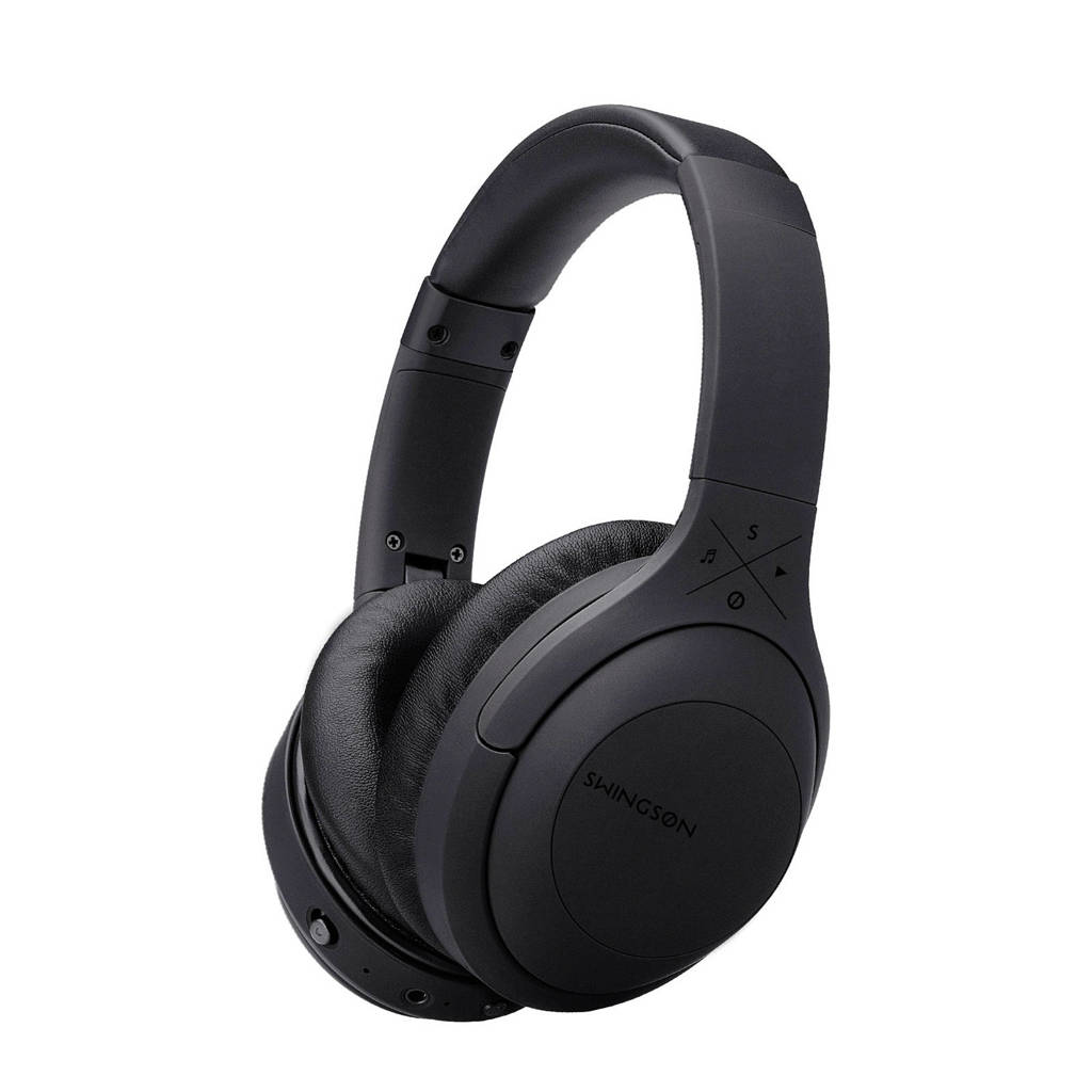 Swingson Privacy Bluetooth over ear koptelefoon, Zwart